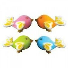 Sugar Decorations Cookie Cake Cupcake BIRDS OF FANCY 12 ct.