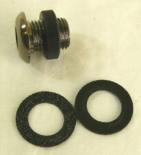 "NEW 1/2"" Black Nickel Air Vent with 2 Gaskets Washers 4 Bass Tom Snare Drum Kit"