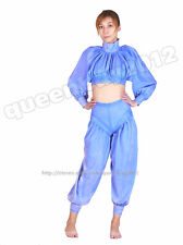 100% Latex Rubber Gummi 0.45mm Catsuit Suit Top Pants Ruffle Bloomer Handmde Hot