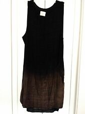 NWOT TINA + JO ANTHROPOLOGIE BOUTIQUE SHORT SLEEVE 100% RAYON DRESS SZ L