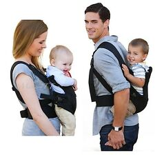 3 Positions Baby Carrier Flip Front 2 Back Ride Backpack Black Breathable Fabric