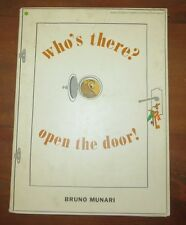 Who's There? Open the Door! Bruno Munari Hardcover Vintage 1957 book
