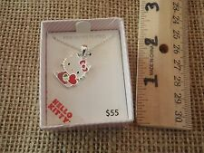 Hello Kitty Necklace Silver Plated Boxed