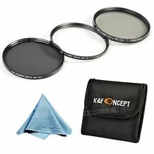 77mm Lens Filter Kit UV CPL Circular Polarizing ND4 Neutral Density for Canon