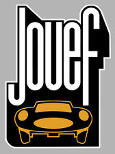 JOUEF CIRCUIT ROUTIER JAGUAR MERCEDES AUTOCOLLANT STICKER 100mmX75mm SCA014