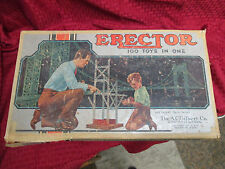 VINTAGE 1950s AC GILBERT NO 6 1/2 ERECTOR SET With HOW TO MAKE 'EM BOOK