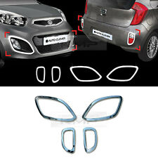 Chrome Front Rear Lamp Reflector Molding B719 For KIA 2011-2014 2015 Picanto