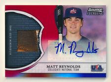 2011 BOWMAN STERLING MATT REYNOLDS RC RED REFRACTOR PATCH AUTO NY METS TRUE #1/1