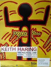 Keith Haring Rare Museum Poster~Exhibition Ad for Artist's Show