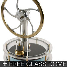 KONTAX Solar Ultra Low Temp Stirling Engine ASSEMBLED + FREE Glass dome