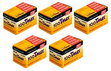 5 Rolls Kodak T-MAX 100 35mm Film TMX 135-36 B&W Black & White Negative FRESH