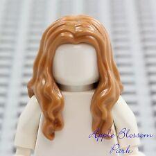 NEW Lego Girl Minifig Long Light BROWN HAIR - Pirate Female Wavy Flesh Head Gear