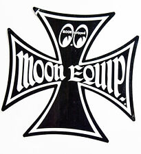 Moon Equipped Iron Cross Black Small Decal Sticker Adhesive on Back
