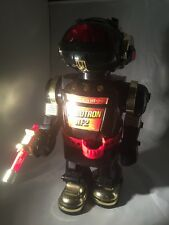 vintage toy robot Robotron Rt 2 Working Moving Lights Sound Smoke Out Off Mouth