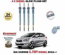 FOR KIA CARENS 1.7 CRDI D4FD 16v 2012-  NEW 4 X DIESEL ENGINE GLOW PLUGS SET