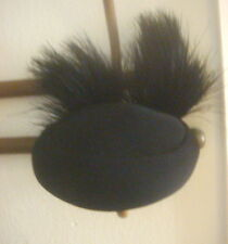 1950 Jackie Kennedy Pill Box hat with original veil and ostrich feathers