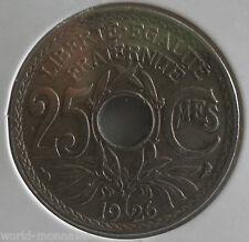 25 centimes lindauer 1926 : TTB : pièce de monnaie française