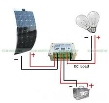 100W Semi Flexible Solar Panel & 15A Charge Controller for Lighting System Car