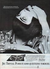 Publicité 1987  JEU TRIVIAL PURSUIT  jeu de société