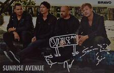 Sunrise Avenue-autografiada mapa-Autograph autógrafo samu haber recortes