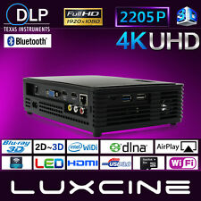 Luxcine Z3000 Android 4K DLP 3D Bluray Wifi HD 2205P Home Theater Projector LED
