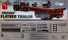 AMT Fruehauf Flatbed Semi-Trailer 1/25 Scale Plastic Model Trailer Kit - AMT617