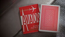 AVIATOR RED DECK OF PLAYING CARDS USPCC POKER SIZE MAGIC TRICKS CARD GAMES HOBBY