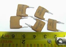 5 x SRC vintage 150pf silvered mica capacitors silver