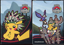 POKEMON BOITE DE RANGEMENT DE CARTE POKEMON INDIAN PIKACHU INDIEN 2013 (BRUN)