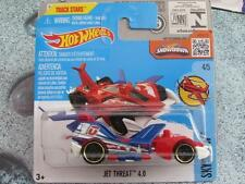 Hot Wheels 2016 #139/250 JET THREAT 4.0 red white & blue Sky show creased
