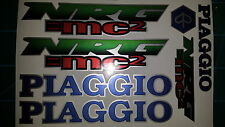 Piaggio NRG MC2 Decals / Sticker Set Full Colour Silver, Blue, Red, Green,