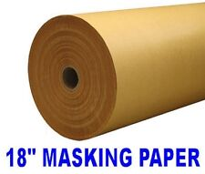 "MASKING PAPER ROLL BROWN 18"" 450MM X 250 METERS 50GSM LONG HIGH QUALITY BODY CAR"
