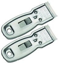 2 Pack Delta Heavy-Duty Glass Scraper w/5 Blades by Hyde 13050