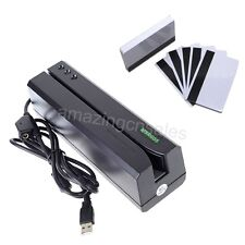 USB Magnetic Swipe Credit Card Reader Writer Encoder Magstripe Mag MSR606 MSR206