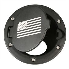 Fuel Filler Cover USA Flag Logo Gas Tank Cap For 07-16 Jeep Wrangler Unlimited