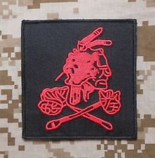 SEAL TEAM 6 NSWDG DEVGRU RED SQUADRON DARK OPS VELCRO® BRAND FASTENER PATCH