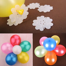 New 5Pcs Colorful Translucent  Flower Shape Balloon Clips Wedding Party Decorate