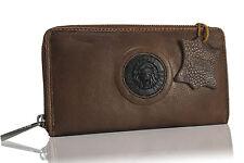 portefeuille portafoglio pelle marrone leather wallet brown Geldbörsen braun