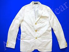 New Ralph Lauren Polo 100% Cotton Crisp White Sport Coat Jacket SLIM 42 R