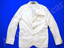 New Ralph Lauren Polo 100% Cotton Crisp White Sport Coat Jacket size 40 R