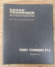 CLASSEUR FICHES TECHNIQUES RTA RECCEUIL N°3 RENAULT PEUGEOT CITROEN BMW ALPINE