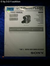 Sony Service Manual DCR PC330 /PC330E Level 1 Digital Video Camera (#5674)