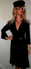 u want~~~ SEXY BOMBSHELL $2,065 Roberto Cavalli NWT BLACK DRESS 8 Va-Va~voom!!!