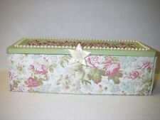 Handcrafted Wooden Keepsake Box Wedding Bridal Beaded Toile