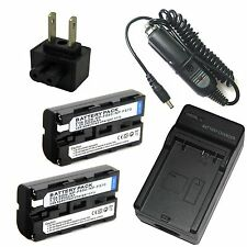 Charger +2x Battery for NP-F550 SONY Cyber-shot DSC-D700 DSC-D770 Digital Camera