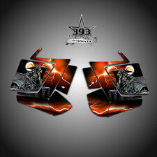 2010 - 2015 POLARIS PRO RMK - RUSH Decal Side Panel Graphics Kit Guardian Orange