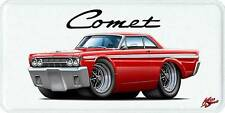 1964 Mercury Comet Classic Car-toon License Plate NEW