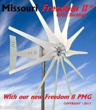 Missouri Freedom II 12/24 volt 2000 watt max 11 blade wind turbine generator