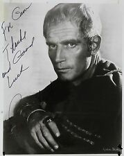 Charleton Heston Original Autograph B&W Photograph Moses Ben Hur Planet of Apes
