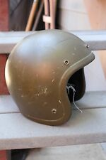 VINTAGE US ARMY GREEN BELL RT MOTORCYCLE HELMET 6 7/8 55CM